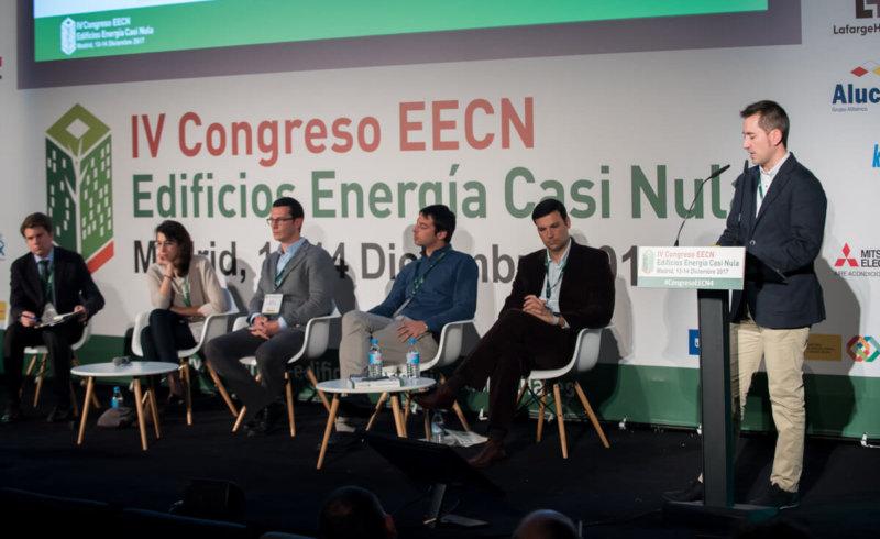 Presentación ponencia en el IV Congreso Edificios Energía Casi Nula, diciembre 201